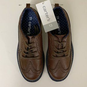 Brand New Boys Brown Oxfords by Carter's Size 13